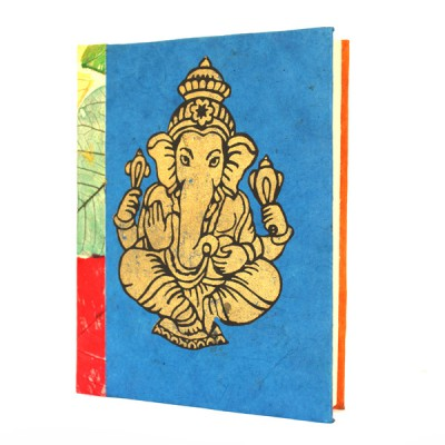 "Carnet en papier népalais motif ""Ganesh"" (cpngan02g)"