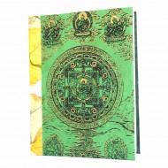 "Carnet en papier népalais motif ""Tara"" (cpntar04g)"