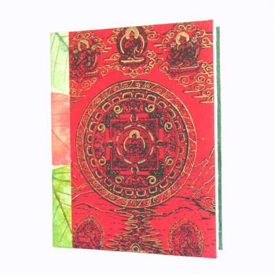 "Carnet en papier népalais motifs ""Tara"" (cpntat05g)"