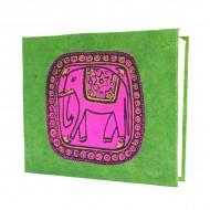 """Carnet népalais motif """"Eléphant"""" (cnepel02p)"""