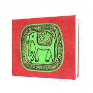 """Carnet népalais motif """"Eléphant"""" (cnepel03p)"""