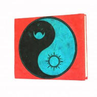 """Carnet népalais motif """"Yin et Yang"""" (cnepyy04p)"""