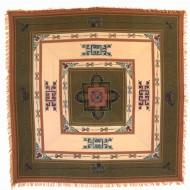 Tenture Brodée Tibétaine (ttgc15bxo)