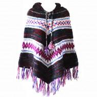 Poncho népalais - 100% laine (ponch05gm)