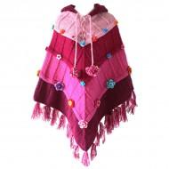 Poncho népalais - 100% laine (ponch08gm)