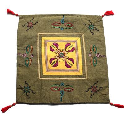 Housse de coussin style tibétain (hctib12m)