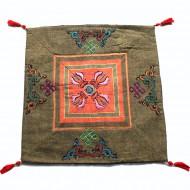 Housse de coussin style tibétain (hctib13m)