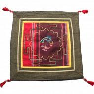 Housse de coussin style tibétain (hctib18m)