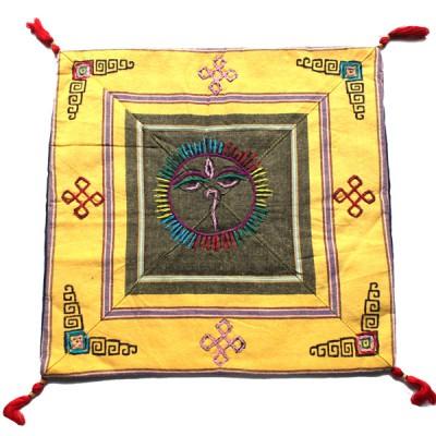 Housse de coussin style tibétain (hctib20m)