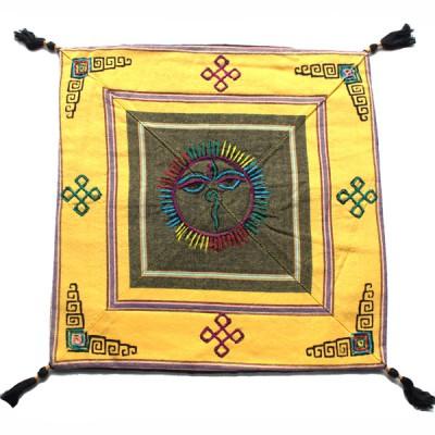 Housse de coussin style tibétain (hctib22m)