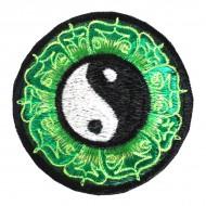 """Ecusson brodé - """"Yin et Yang"""" (ecnep18mm24)"""