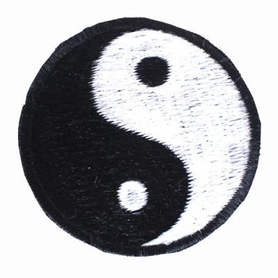"""Ecusson brodé - """"Yin et Yang"""" (ecnep18mm25)"""