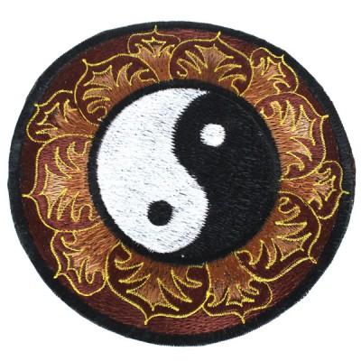 """Ecusson Brodé Géant """"Yin Et Yang"""" (ecnep18gm04)"""