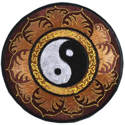 """Ecusson Brodé Géant """"Yin Et Yang"""" (ecnep18tgm10)"""