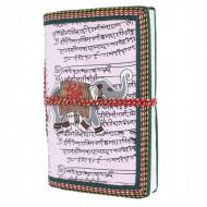 """Carnet indien motif """"Eléphant"""" (carin01el))"""