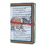 """Carnet indien motif """"Eléphant"""" (carin05el))"""