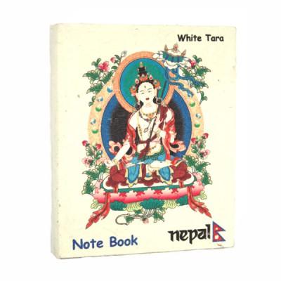 """Petit carnet népalais motif """"White Tara"""" (cnep01tpm)"""