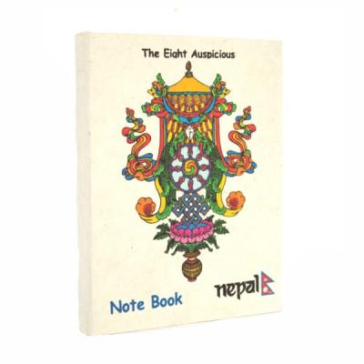 """Petit carnet népalais motif """"Les huit auspices"""" (cnep02tpm)"""