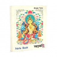 "Petit carnet népalais motif ""Green Tara"" (cnep03tpm)"