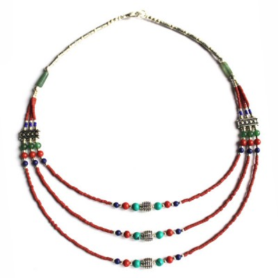 Collier style Tibétain (coltib08)