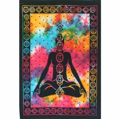 """Tenture Indienne """"Les 7 Chakras"""" (tptchak01)"""