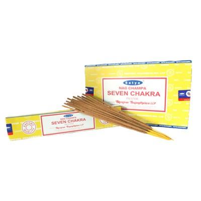 """Encens indien """"Seven Chakra"""" de Satya (sevchsat12/15)"""