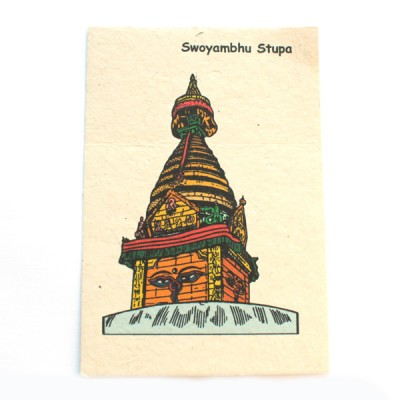 "Carte Postale ""Swoyambhu Stupa""'"