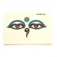 """Carte Postale """"Les yeux de Bouddha""""'"""