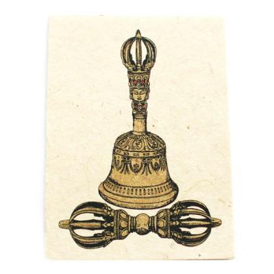 "Carte Postale ""Ghanti & Vajra""'"