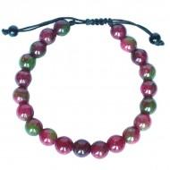 "Bracelet perles rondes ""Tourmaline"""