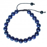 "Bracelet perles rondes ""Lapis Lazuli"""