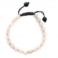 """Bracelet perles rondes """"Quartz Rose"""""""