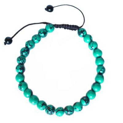 "Bracelet perles rondes ""Turquoise"""