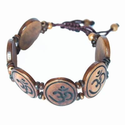 """Bracelet népalais """"Om"""""""