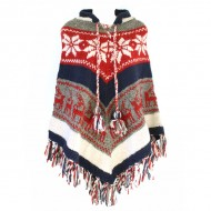 Poncho népalais - 100% laine (ponch01gm)