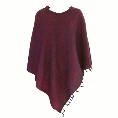 Poncho népalais - 100% laine (ponchpal08/2pn)