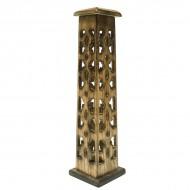 Porte Encens Vertical en bois sculpté (pegr008)