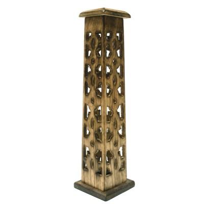 Porte Encens Vertical en bois sculpté (pegr08/2)