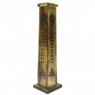 Porte Encens Vertical en bois sculpté (pegr009)