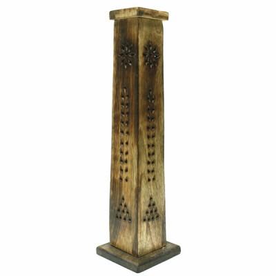 Porte Encens Vertical en bois sculpté (pegr09/2)