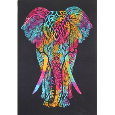 "Tenture Indienne ""Eléphant"" (tmm275)"
