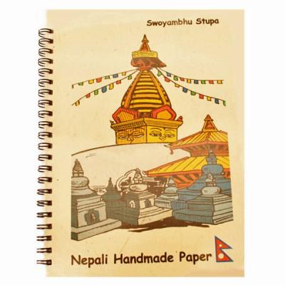 """Carnet népalais """"Stupa Swoyambhu"""""""