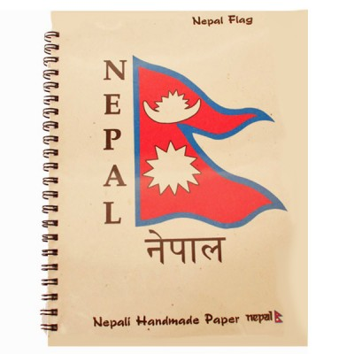 """Carnet népalais """"Drapeau du Népal"""""""