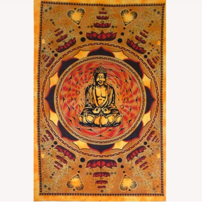 "Tenture Murale ""Bouddha Lotus"" (tmm038)"