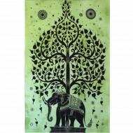 """Tenture Indienne """"Eléphant"""" (tptel03v)"""