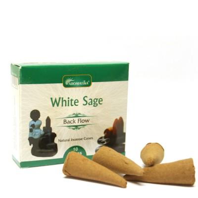 "Encens indien - Cônes à reflux ""White Sage"""
