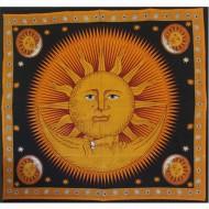 """Tenture Murale """"Soleil et Lune"""" (tgm005/2)"""