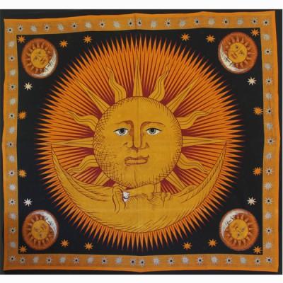 """Tenture Murale """"Soleil et Lune"""" (tgm005/3)"""