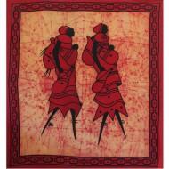 "Tenture Africaine ""Les Amoureux""(tgmb090)"