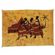 "Tenture batik ""Village""(tb011/2)"